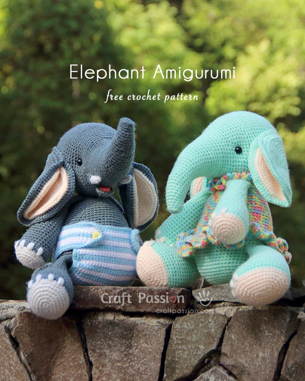 Elephant Edging Border Crochet Pattern and Video Tutorial Free ... | 750x600