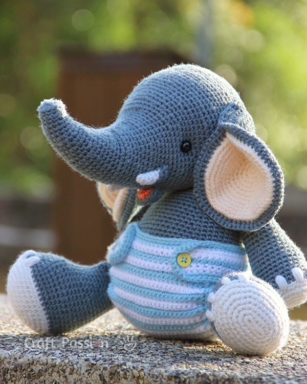 10 Free Crochet Elephant Patterns - Crochet Amigurumi - Amigurumi | 750x600