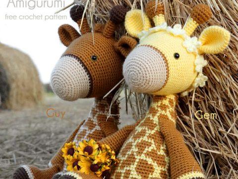 Crochet plush toy giraffe amigurumi | Amiguroom Toys | 360x480