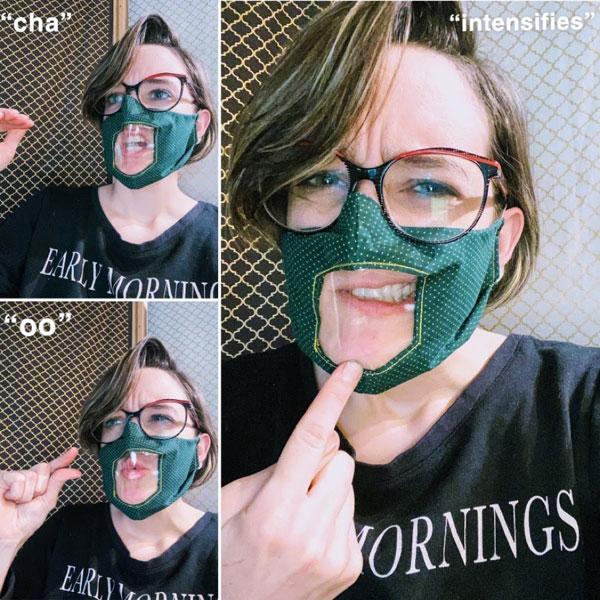 Lip Reading Face Mask