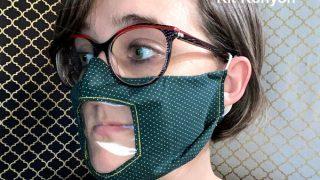 Vinyl Windowed Face Mask