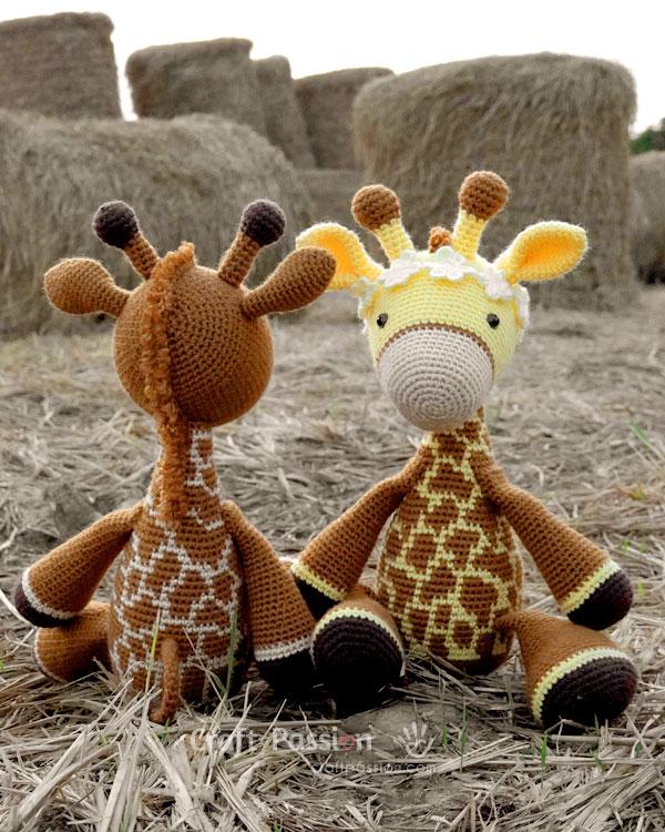 giraffe amigurumi free crochet pattern