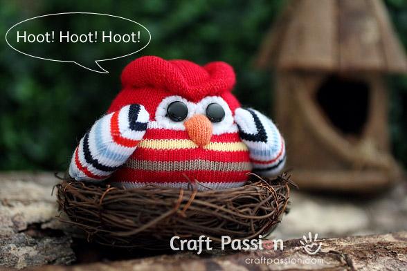 baby sock owl