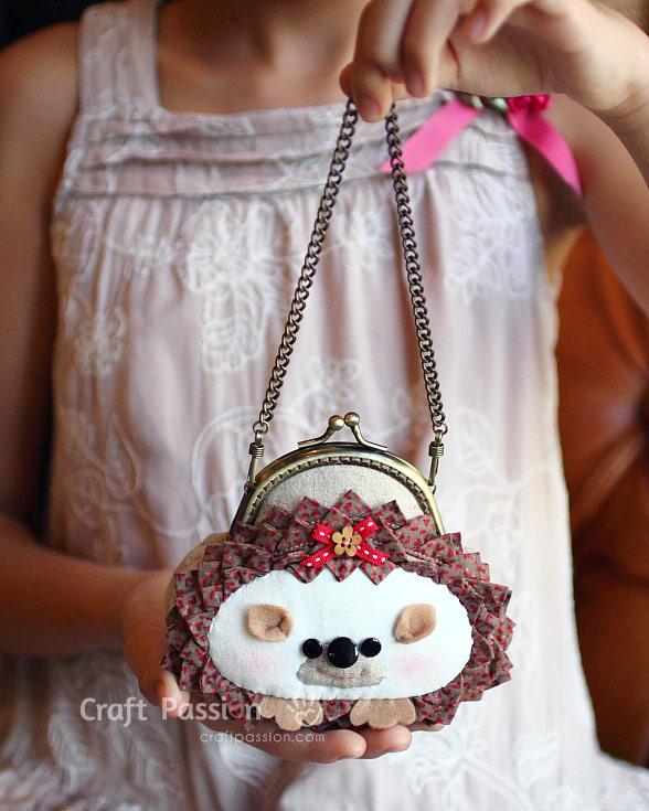 hedgehog gamaguchi purse dress