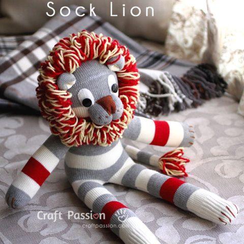 Sock Lion Sewing Pattern