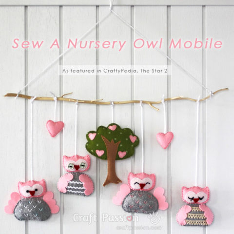 Owl Nursery Mobile Sewing Pattern