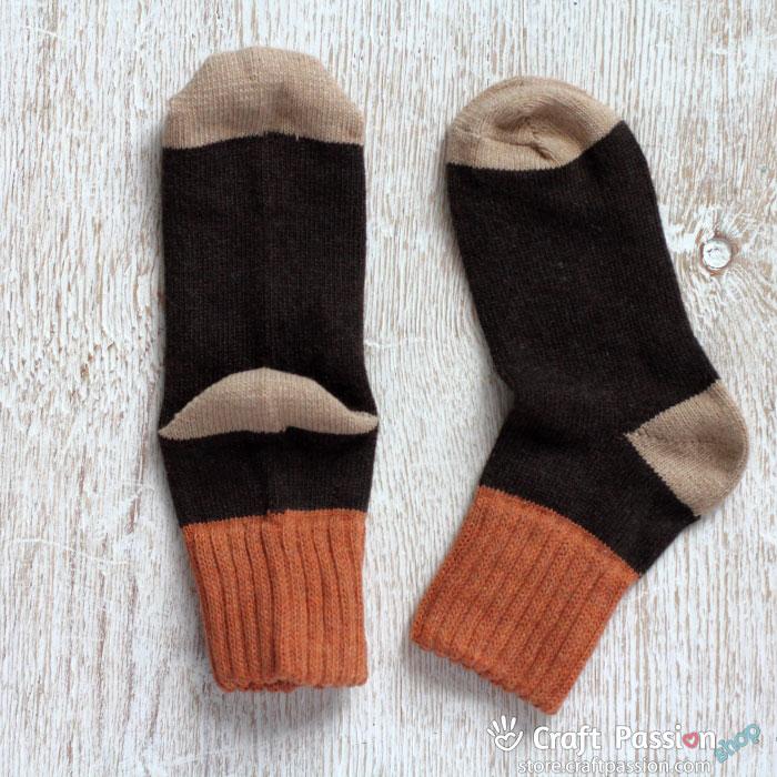 Folded Rib Wool Socks