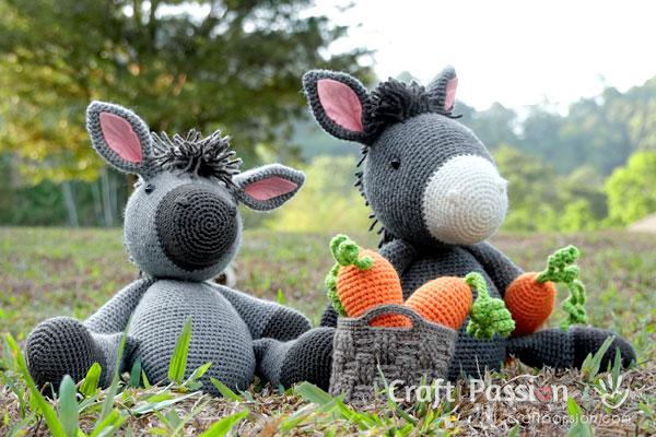 donkey amigurumi free pattern