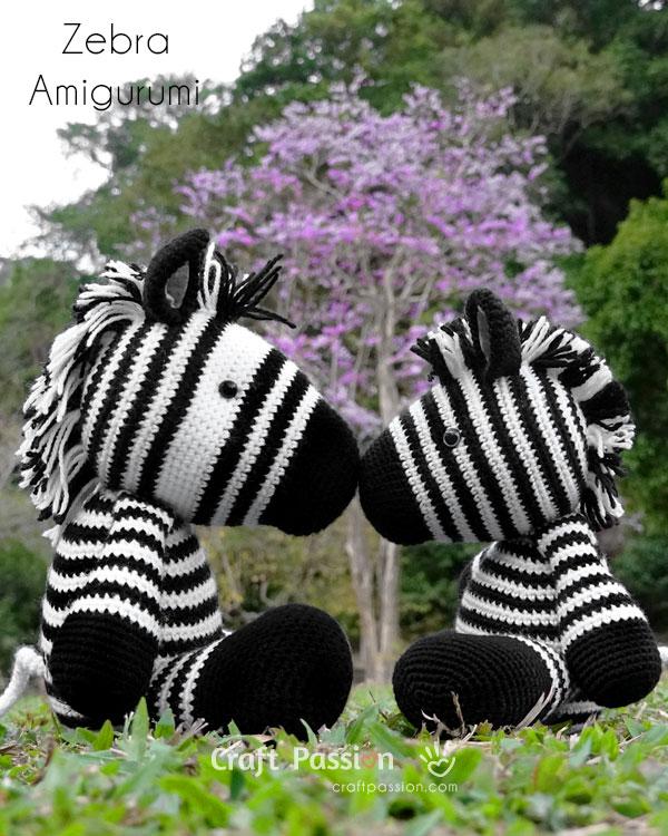 crochet zebra amigurumi