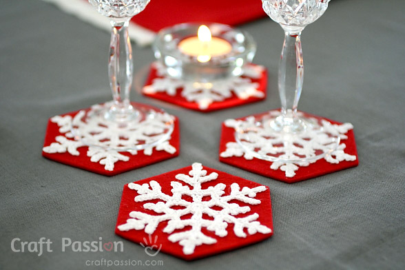 crochet snowflakes coasters pattern