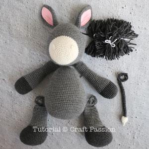 donkey amigurumi