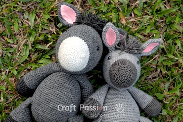 crochet donkey amigurumi