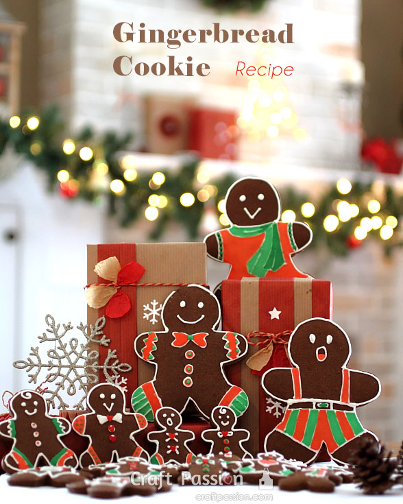 gingerbread man family cookies