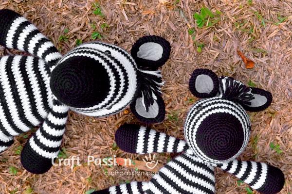 zebra amigurumi stuffed animal