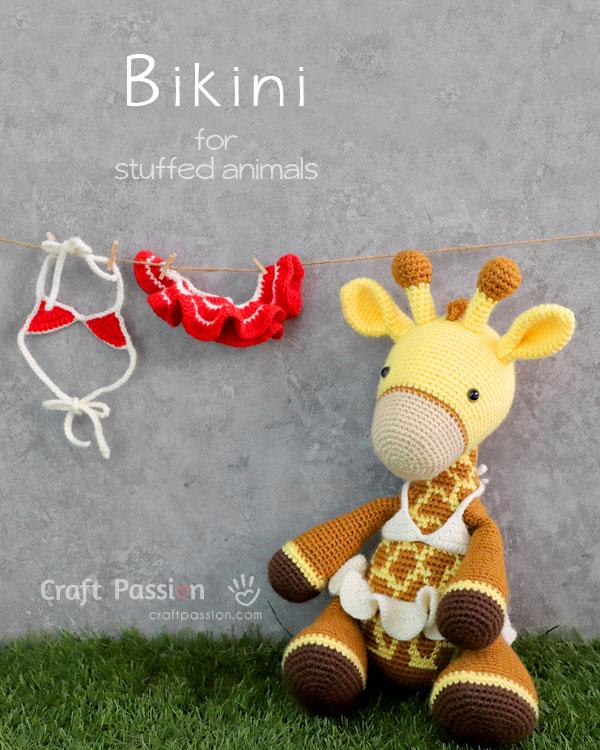 crochet bikini for stuffed animal