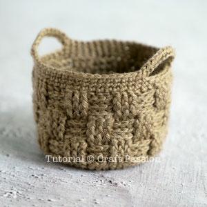 crochet woven basket