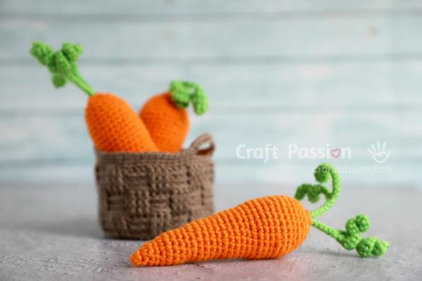 Carrot Amigurumi Crochet Pattern