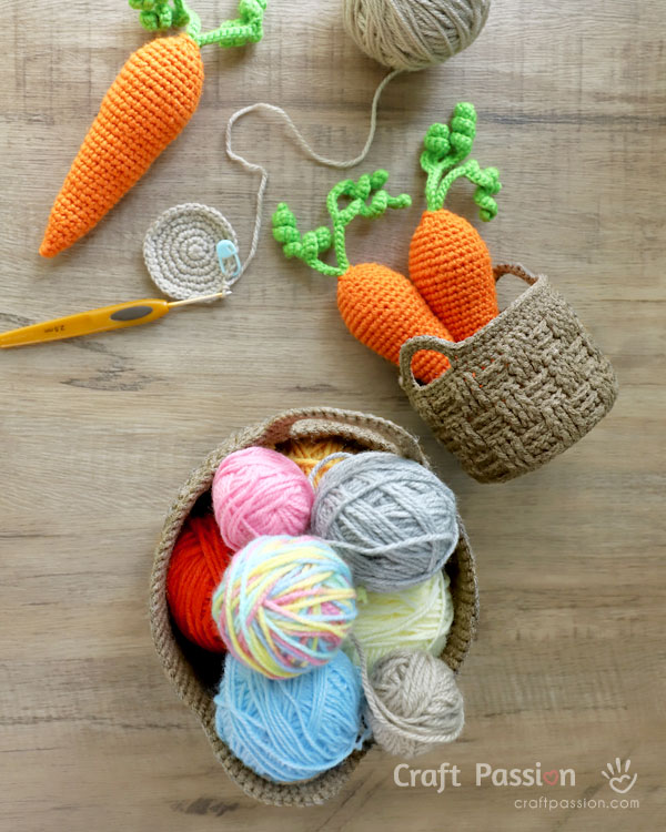 how to crochet woven basket