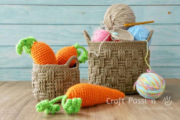 woven basket crochet pattern