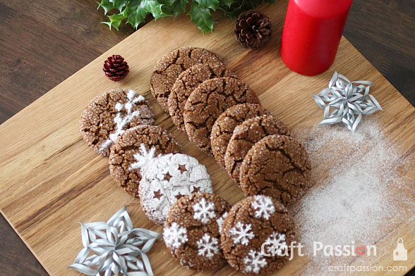 ginger snap cookies top board