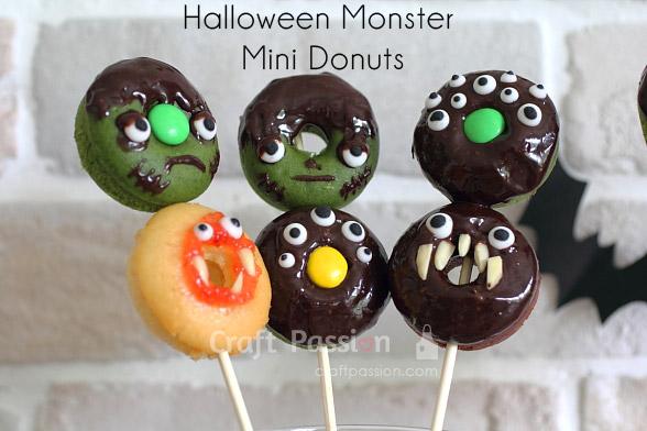 skewered halloween donuts