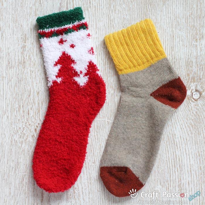 Chenille Microfiber Socks Set - Christmas Tree