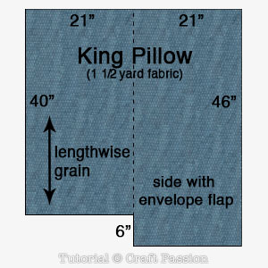 cut out king pillow
