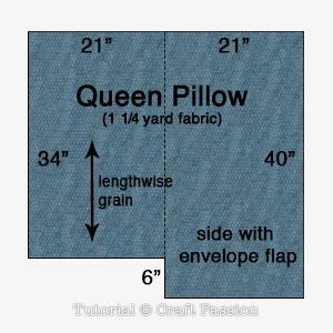 cut out queen pillow
