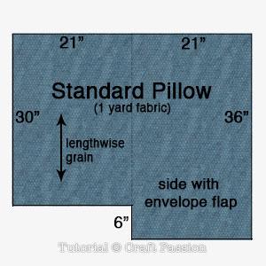 cut out standard pillow