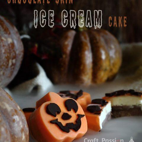 CHOCOLATE-COATED ICE CREAM CAKE RECIPE