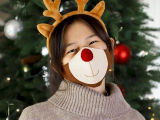 reindeer face mask