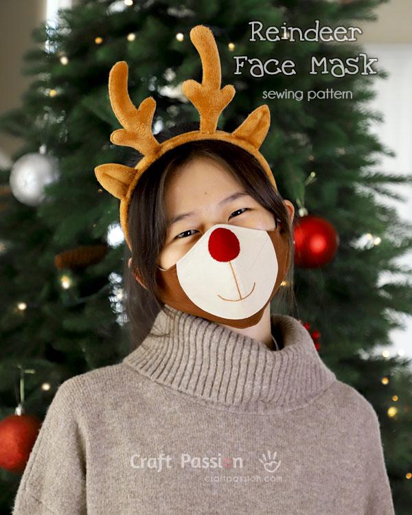 sew reindeer face mask