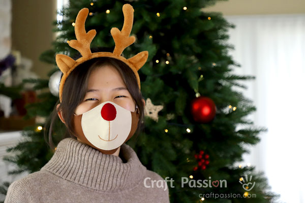 Reindeer Face Mask Sewing Pattern