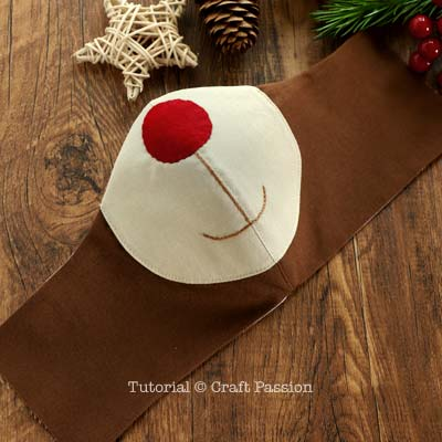sew reindeer covid face mask