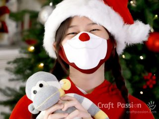 Santa Face Mask sewing pattern for covid
