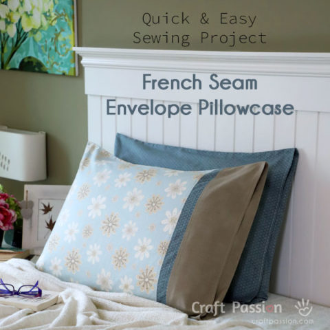 Envelope Pillowcase With French Seam