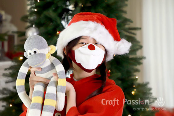 sew Santa covid face mask