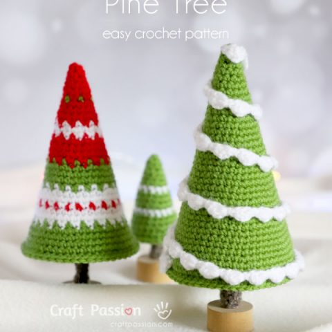 pine tree crochet pattern