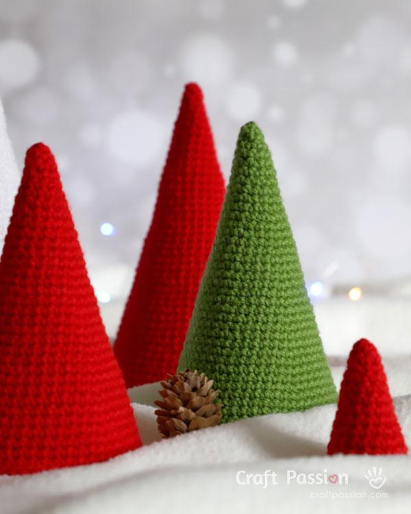 cone tree crochet pattern