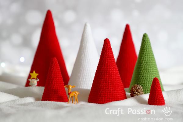 crochet cone tree