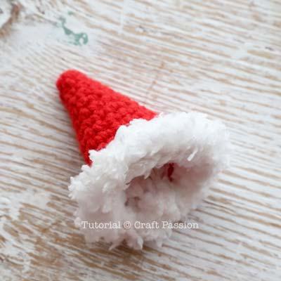 santa hat with white fur rim