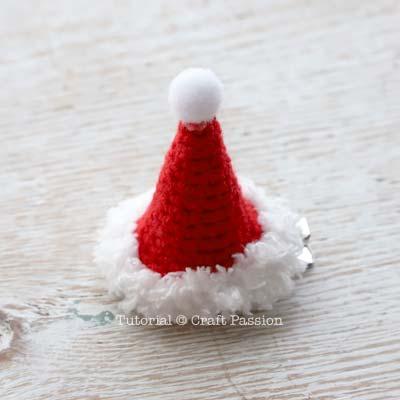 crochet mini santa hat