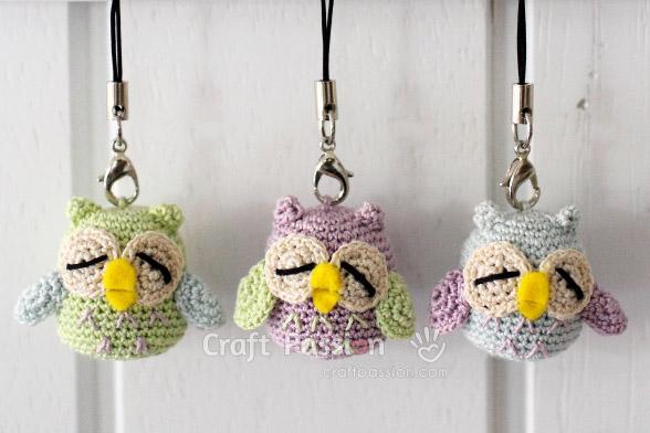 owl charm trio