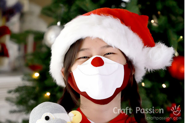 Santa Face Mask Sewing Pattern