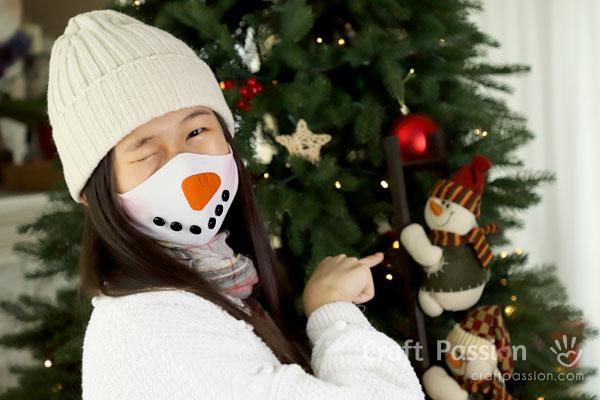 cute snowman face mask