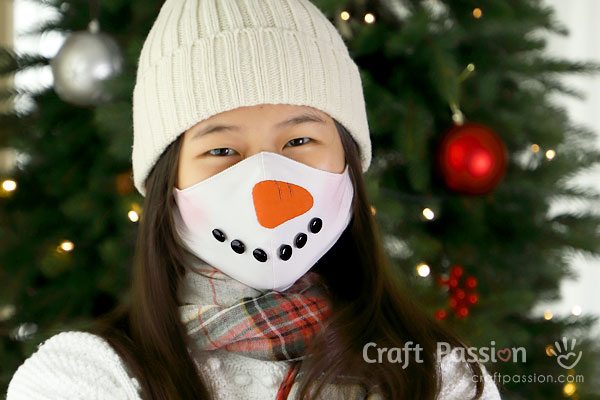 Snowman Face Mask Sewing Pattern
