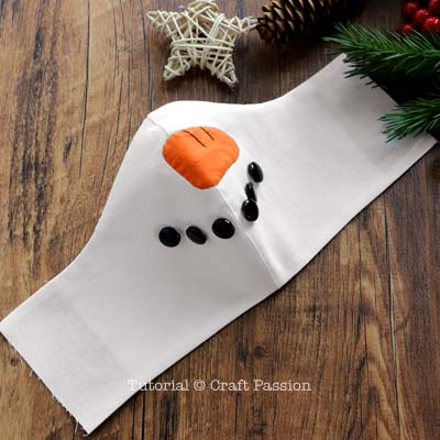 how to sew snowman face mask