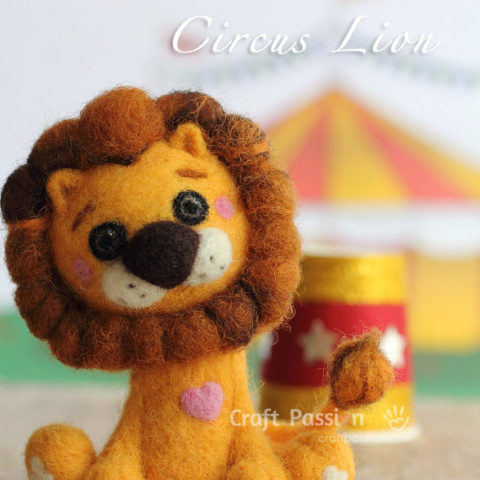 Needle Felted Lion - How To