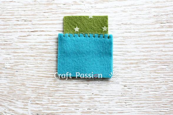 how to sew flap blanket stitch