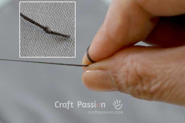 knot a thread